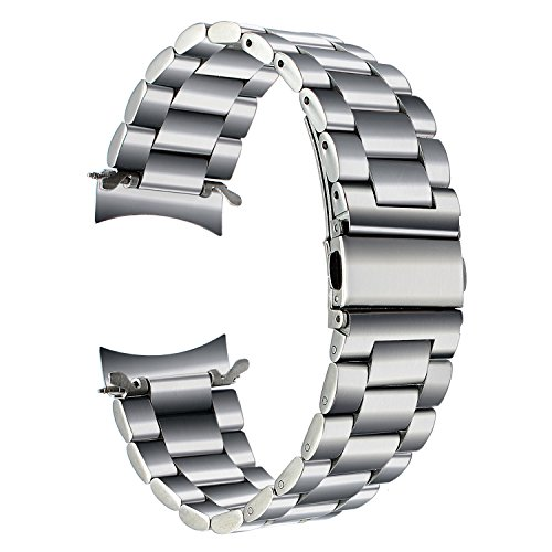 atibel mit Galaxy Watch 46mm/Gear S3 Armband, 22mm Solid Metal Edelstahlband Ersatz Uhrenarmband Business Armband für Gear S3 Frontier Classic Sport Smartwatch ()