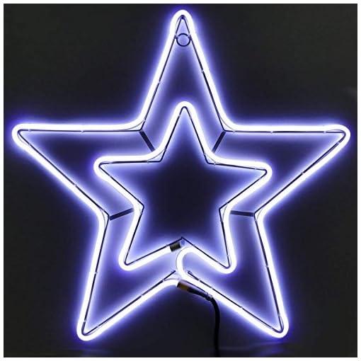 Stella Di Natale Led.Stella Di Natale Tubo Luminoso A Led 54x54 Cm Negozio