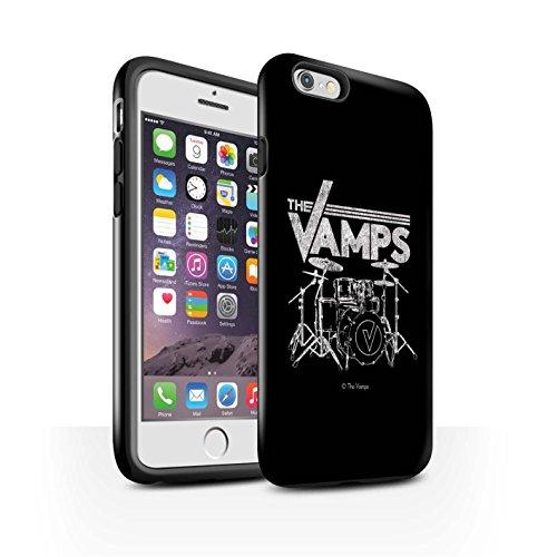Offiziell The Vamps Hülle / Glanz Harten Stoßfest Case für Apple iPhone 6 / Pack 6pcs Muster / The Vamps Graffiti Band Logo Kollektion Schlagzeug