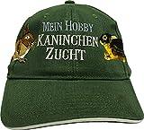 Fan-O-Menal Baseballcap mit Einstickung - Mein Hobby Kaninchenzucht - KN279 dunkelgrün