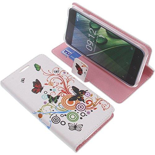 foto-kontor Tasche für Acer Liquid Z6 Book Style Schmetterlinge Schutz Hülle Buch