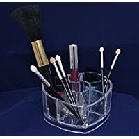 warenplus2014 Clear Heart Shaped Cosmetic Organiser Cosmetic Organiser Cosmetic Tray Small