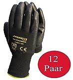 Arbeitshandschuhe Herren Gr 11 schwarz Nylonhandschuhe Montagehandschuhe Gloves für den