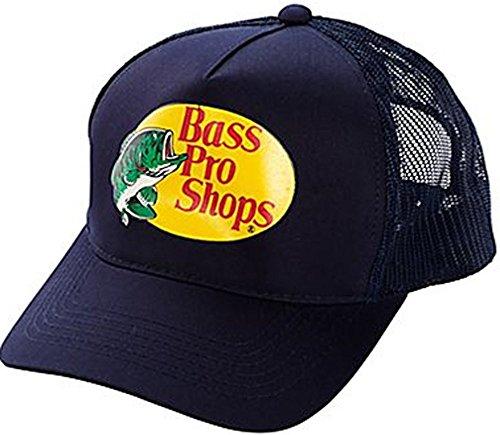 Bass Pro Shop Herren Mütze Trucker Mesh Cap–One Size Fits alle Snapback Verschluss–Großartig für Jagd und Angeln, Herren, Navy, One Size Fits Most