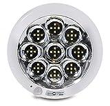 Led4u - Plafón de techo led con sensor de movimiento y sonido blanco frío o cálido (blanco frío)