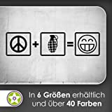 Peace + Granate Wandtattoo in 6 Größen - Wandaufkleber Wall Sticker