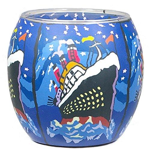 Windlicht Cup Teelichthalter Mttelgross OZEANRIESE BEI NACHT, halb gefüllt mit Wachs hier kaufen