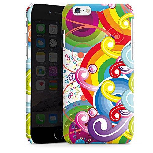Apple iPhone 5s Housse Étui Protection Coque Psycho Cercles couleurs Cas Premium brillant