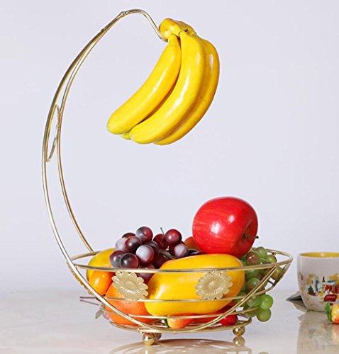 SQL Wohnzimmer Schmuck Banane Obstschale Edelstahl Ablagekorb Kondensatwanne . gold -