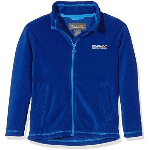 Regatta–Chaqueta de forro polar, chaqueta, Niño, color Azul - Surf Spray/Methyl, tamaño 11-12