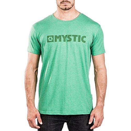Mystic Watersports - Surf Kitesurf & Windsurfing Brand 2.0 T-Shirt T-Shirt Top Grün Melee - 160 g/m² Single Jersey