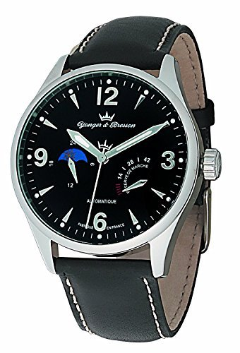 Yonger & Bresson Men's YBH 8317-01 Black dial watch.