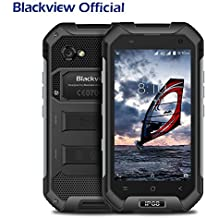 Rugged Handy, Blackview BV6000S IP68 Smartphone Wasserdicht Staubdicht Stoßfest, Outdoor Smartphone 2MP + 8MP Kamera 4500mAh Battrie 5V 2A Schnellladung, Android 7.0 Smartphone 4.7 Zoll HD Touch Display mit NFC, GPS,GLONASS,Atmosphere Pressor Sensor-Schwarz