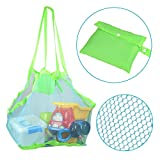 Togather? Togather Extra Large Family Mesh Beach Bag Tote Backpack Toys Towels Sand Away - Blue by