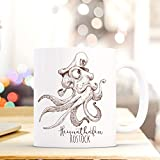 ilka parey wandtattoo-welt Maritime Tasse Becher Käpt'n Krake Kaffeetasse Kaffeebecher Geschenk mit Octopus Motto Spruch Heimathafen Rostock ts661