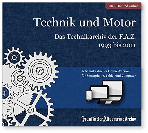 Produktbild Technik und Motor,  CD-ROM Das Technikarchiv der F.A.Z. 1993 bis 2011