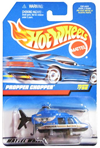 mattel-hot-wheels-1998-164-scale-gold-blue-police-propper-chopper-die-cast-helicopter-collector-798