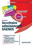 Pass'Foucher - Concours Secrétaire administratif SAENES...