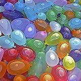 POAO Water Balloon Wasserbomben, Wasserbomben in 60 Sekunden -Selbstschließend ohne Knoten (6 Bunches= 222Pcs) (Coloful)