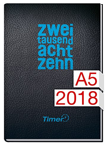 Chäff-Timer Classic A5 Kalender 2018 [zweitausendachtzehn] 12 Monate Jan-Dez 2018 - Terminkalender mit Wochenplaner - Organizer - Wochenkalender