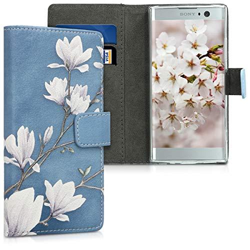 kwmobile Sony Xperia XA2 Hülle - Kunstleder Wallet Case für Sony Xperia XA2 mit Kartenfächern & Stand