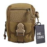 OneTigris Molle taktische Waistpack Hüfttasche EDC Zubehörtasche (Khaki)