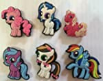 My Little Pony Shoe Charms Set of 6,...