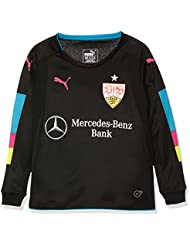Puma VfB GK–Camiseta, otoño/invierno, infantil, color black-atomic blue, tamaño 6 años (116 cm)