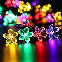 Gracetop 7m luce della stringa 50LEDs,luce della stringa solare,stringa di lampada per la festa di Natale, Halloween, casa, giardino, alberi, festivo parti, decorazione esterna.--Waterpro, Bright (8 modalità) - Led Si Illumina Di Nozze