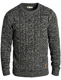 SOLID Philemon Herren Strickpullover Grobstrick Pulli mit Rundhals-Ausschnitt aus 100% Baumwolle Meliert