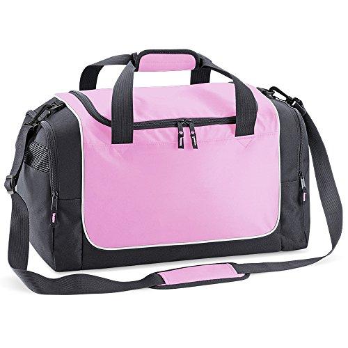 Quadra - sac de sport compact 30 L - QS77 - LOCKER BAG - coloris rose / gris / blanc