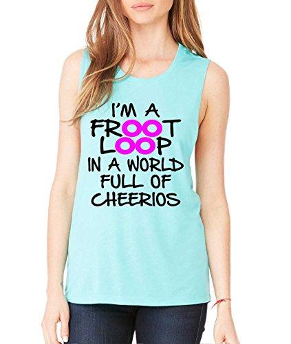allntrends-womens-flowy-muscle-top-im-a-froot-loop-fun-cool-top-s-teal