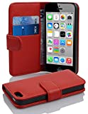 Cadorabo Apple iPhone 5C Etui de Protection STRUCTURE en ROUGE CERISE – Coque...