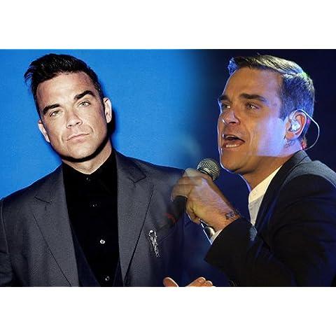 Robbie Williams 2–A4–Musica Legend–Superstar, Icon–stampa–Immagine