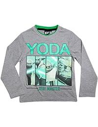 Star Wars Kollektion 2016 Langarmshirt 104 110 116 122 128 134 140 146 Shirt Jungen Neu Pullover Yoda Stormtrooper Ökotex 100 Darth Vader Grau