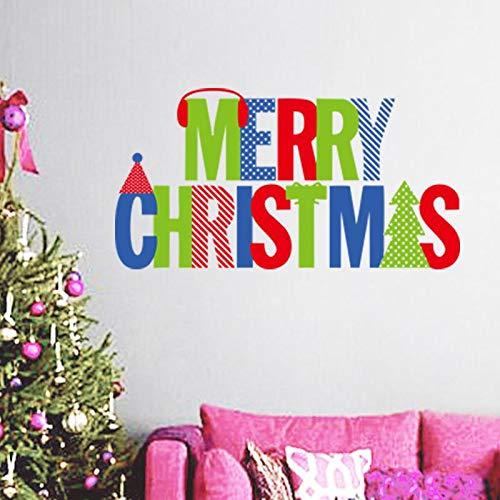 LQRRHY Frohe Weihnachten Wandaufkleber Christian Zimmer Dekoration DIY Vinyl Weihnachten Decals Festival Wandbild Kunst Poster