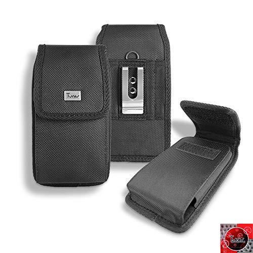 T MAN Metro Pcs LG K20Plus, LG K20Plus, LG k20V Fall, tman Robust Vertikal Smart Tasche/Pouch/Holster w Metall Gürtel Clip (Passt Das Handy mit Otterbox Schutzhülle auf) (Pcs Metro Lg-handys)