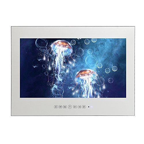 Soulaca IP66 DE 15.6 Pulgadas Resistente al Agua HD Ready Freeview Digital LED Espejo TV para Baño, Hotel y Cocina(Espejo)