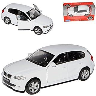 Unbekannt B-M-W 1er E87 1. Generation 5 Türer Weiss 2004-2013 ca 1/43 1/36-1/46 Welly Modell Auto mit individiuellem Wunschkennzeichen