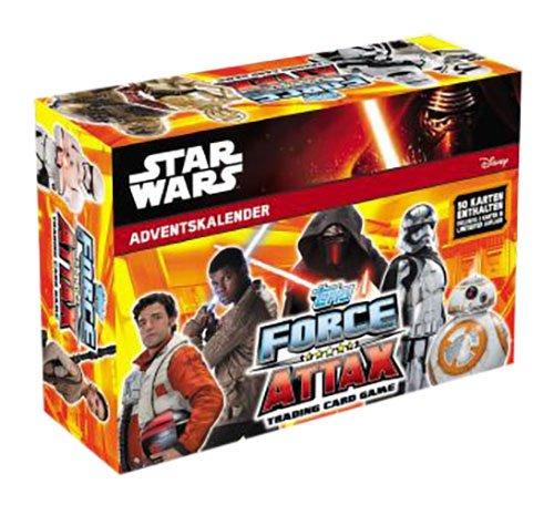 Topps d105363–Calendario de Adviento Disney Star Wars Force Attax 2016, multicolor