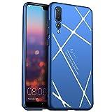 Cover Huawei P20 Pro, Custodia Semplice E Bello Da GOGME. Cover Sottilissima E Rigida R Leggera Adatta Perfettamente Allo Huawei P20 Pro. bianco-blu