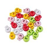 ULTNICE - Tope para cordones con muelle (color aleatorio), 25unidades