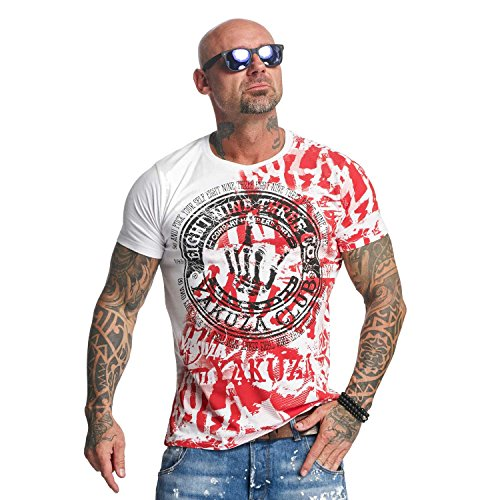 Yakuza Original Yakuza Club T-Shirt , Weiß - 5XL -