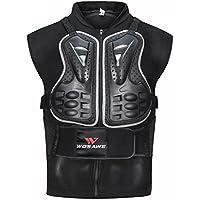 AKAUFENG Ärmellos Motorrad Protektorenjacke Protektorenhemd Motorrad Protektorenweste S-3XL
