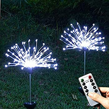 Smart Solar 1pk Garden Triple Allium Stake Flower Light Amazon Co Uk Garden Amp Outdoors