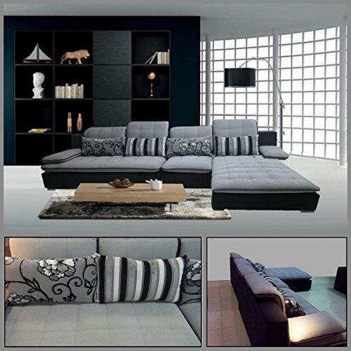 Bagno italia divano soggiorno 300x180 angolare microfibra sfoderabile grigio chiaro divani