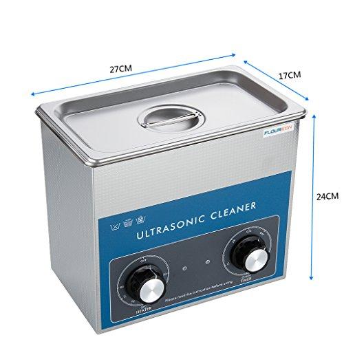 FLOUREON® 3L Ultraschall-Reinigungsgeräte Ultraschallreiniger Ultraschall Gerät Reiniger mit Korb Ultraschallbad -