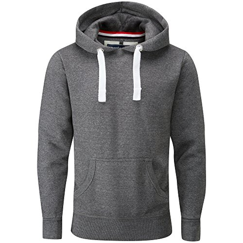 Charles Wilson Men's Midweight Cotton Blend Pullover Slim Fit Hoody (Charcoal Melange, Medium)