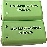 4ea Rechargeable NiMh 9V Battery 6LR61 200mAH Real Capacity