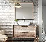 Badezimmer Badmöbel Indiana 90 cm Nature Wood - Unterschrank Schrank Waschbecken Waschtisch